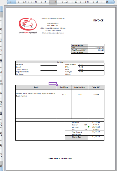 quotation and invoice Ecza.solinf.co