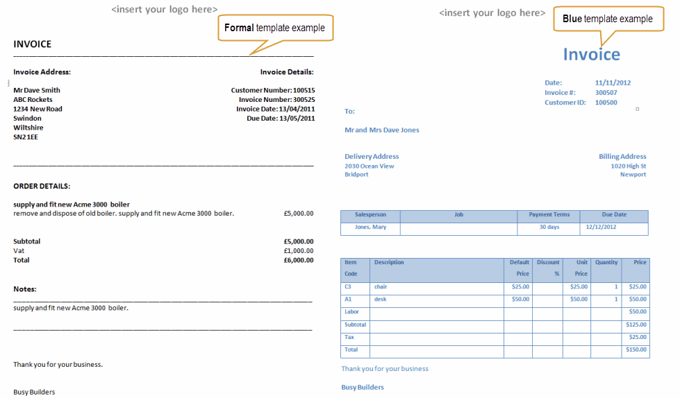quote invoice template Black.dgfitness.co