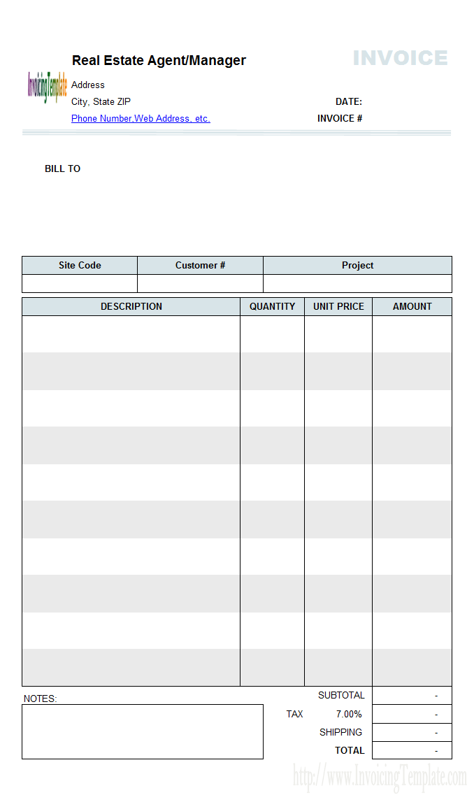 real estate commission invoice template Acur.lunamedia.co
