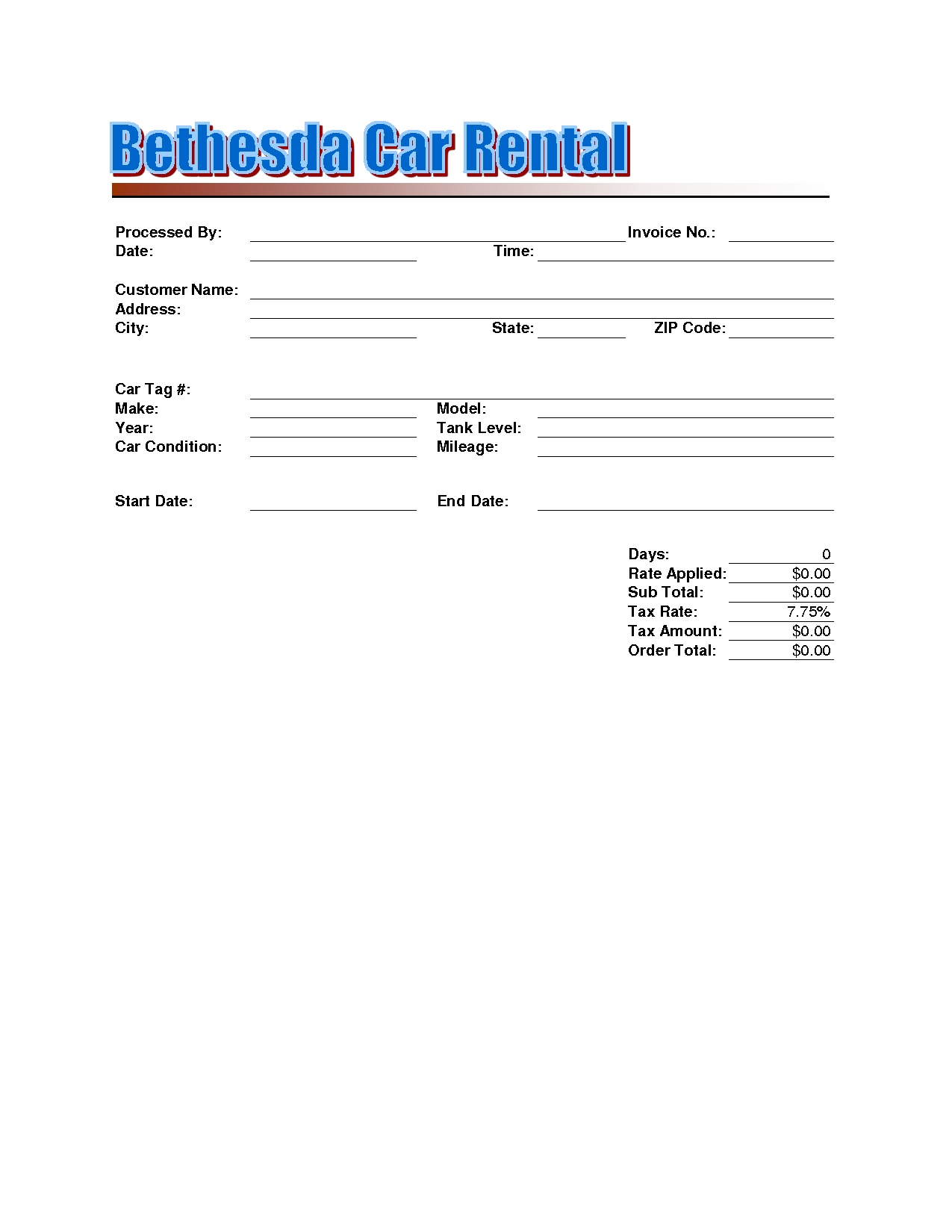 Car rental invoice sample 19 best photos of rent a template