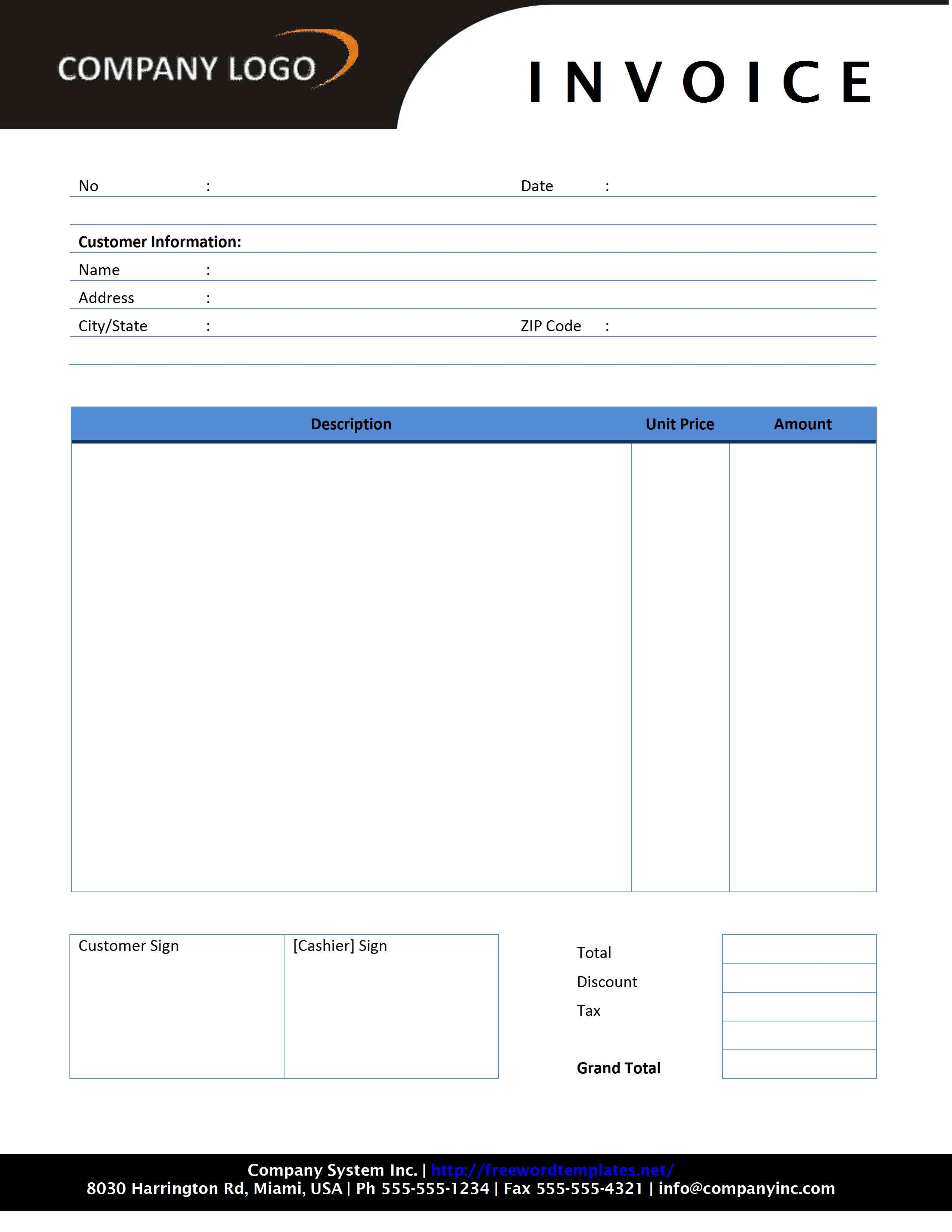 rental invoice form Ecza.solinf.co