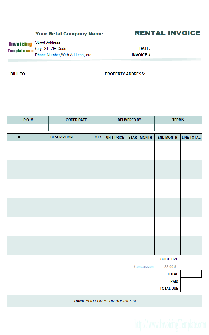 Free Monthly Rent (to Landlord) Receipt Template | Excel | PDF
