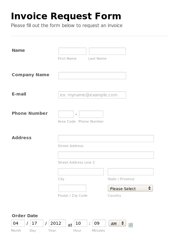 invoice request form template Ecza.solinf.co