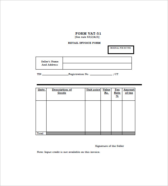 Retail Invoice Template 12+ Free Word, Excel, PDF Format