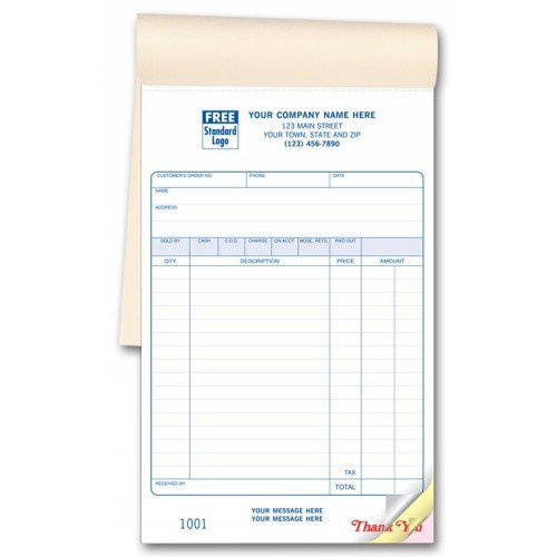 Amazon.: Carbonless Custom Sales Invoice Books : Office Products