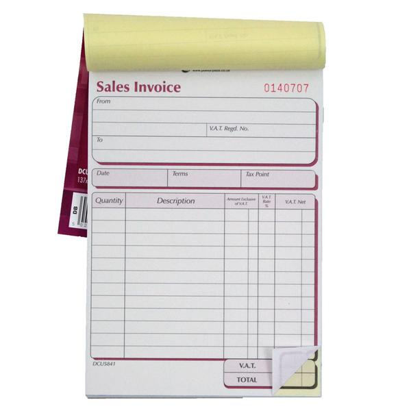 Pukka Pad, Duplicate Sales Invoice Book (NCR) 50 Sets 137x203mm