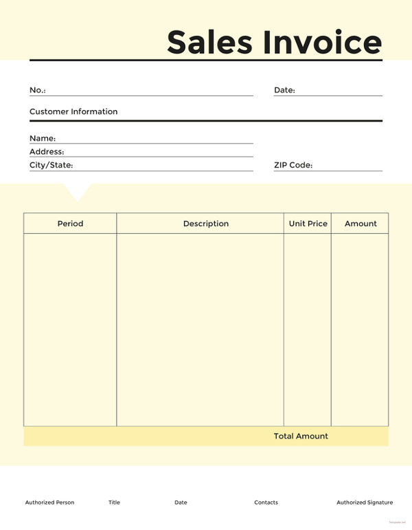 16+ Sales Invoice Template Free Word Excel PDF Download | Free