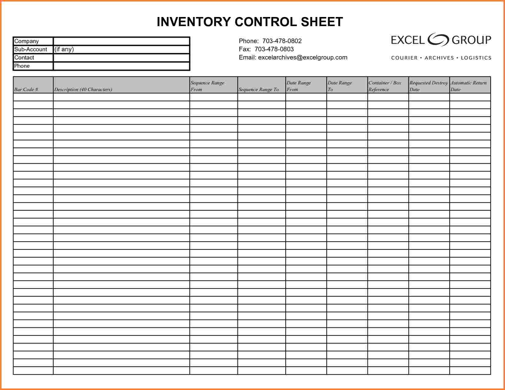 Inventory Spreadsheet Example Business With Chemical Template