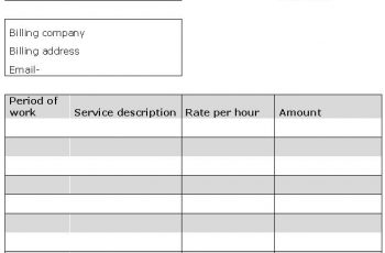 sample invoice professional services