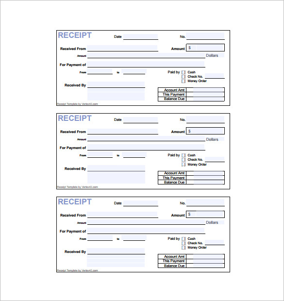Invoice Receipt Template 17+ Free Word, Excel, PDF Format