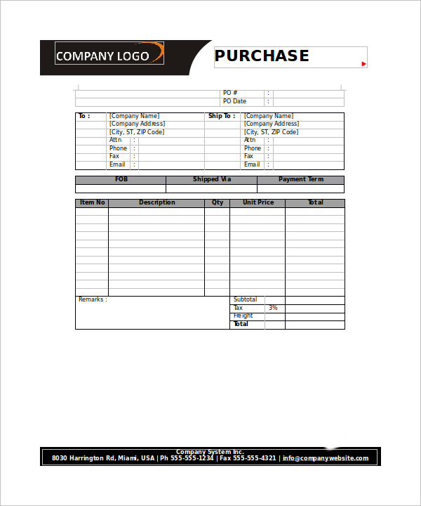 23+ Order Form Templates – PDF, Word, Excel | Sample Templates