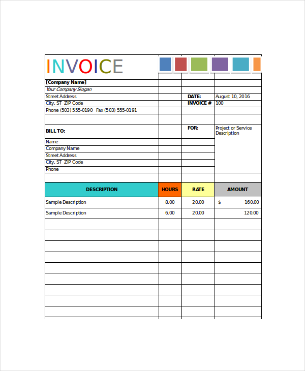 invoice template for painters Acur.lunamedia.co