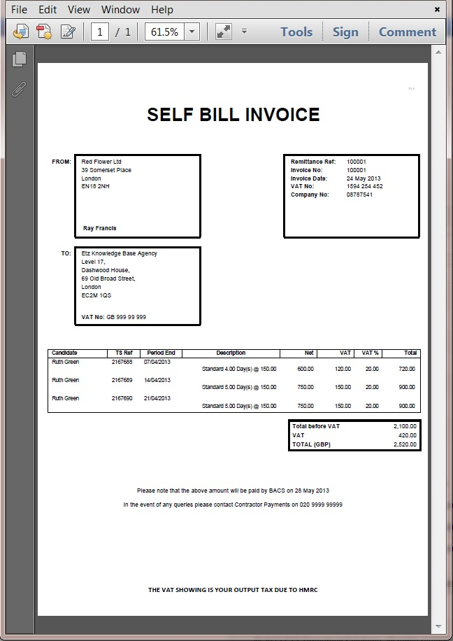 self bill invoice template how do i set a supplier for self