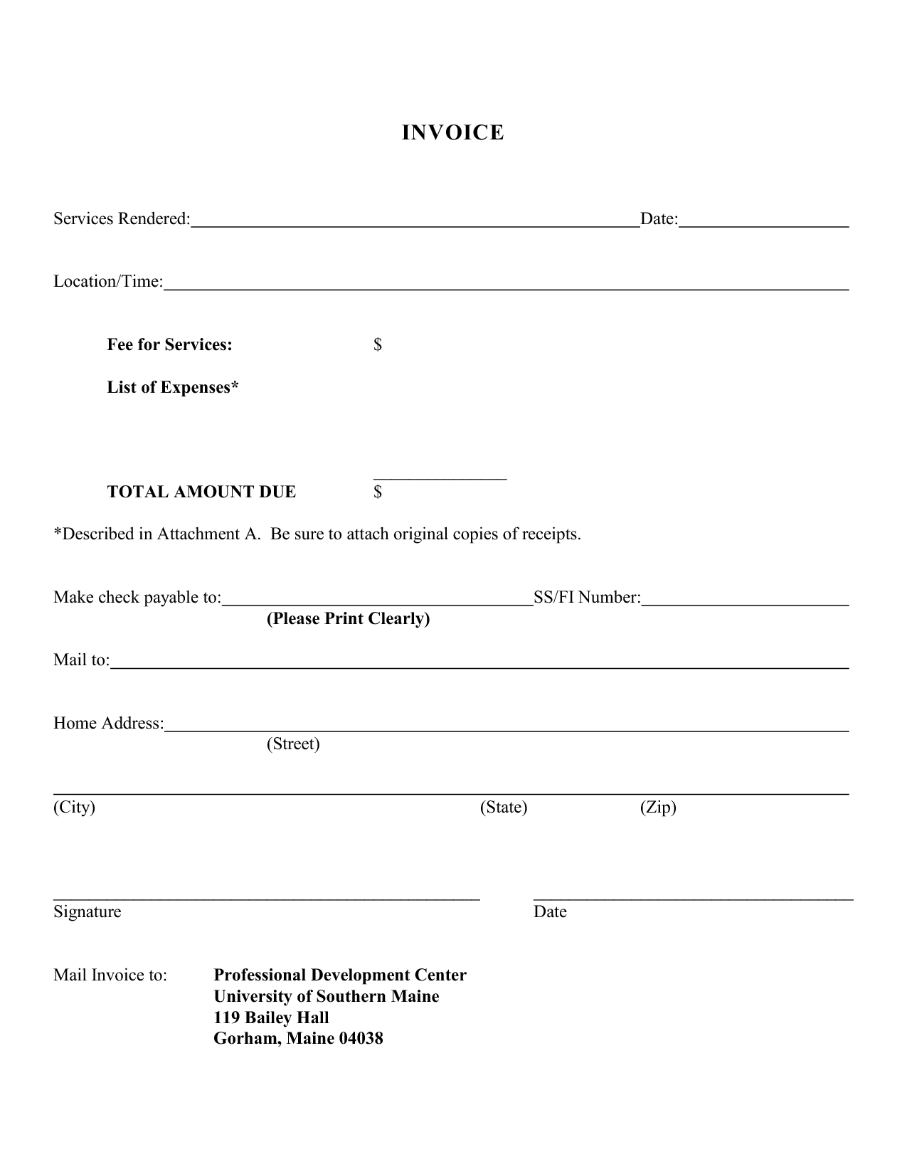 invoice for services rendered template free Black.dgfitness.co