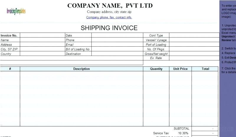 Shipping Invoice Definition Shipping Invoice Definition Sample