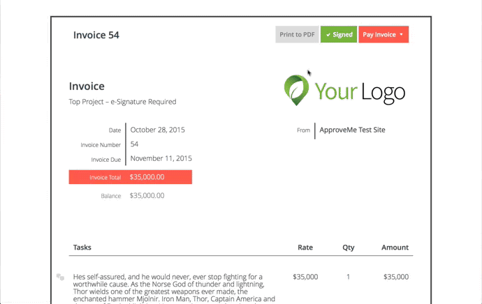 Sprout Invoices Add on for WP eSignature