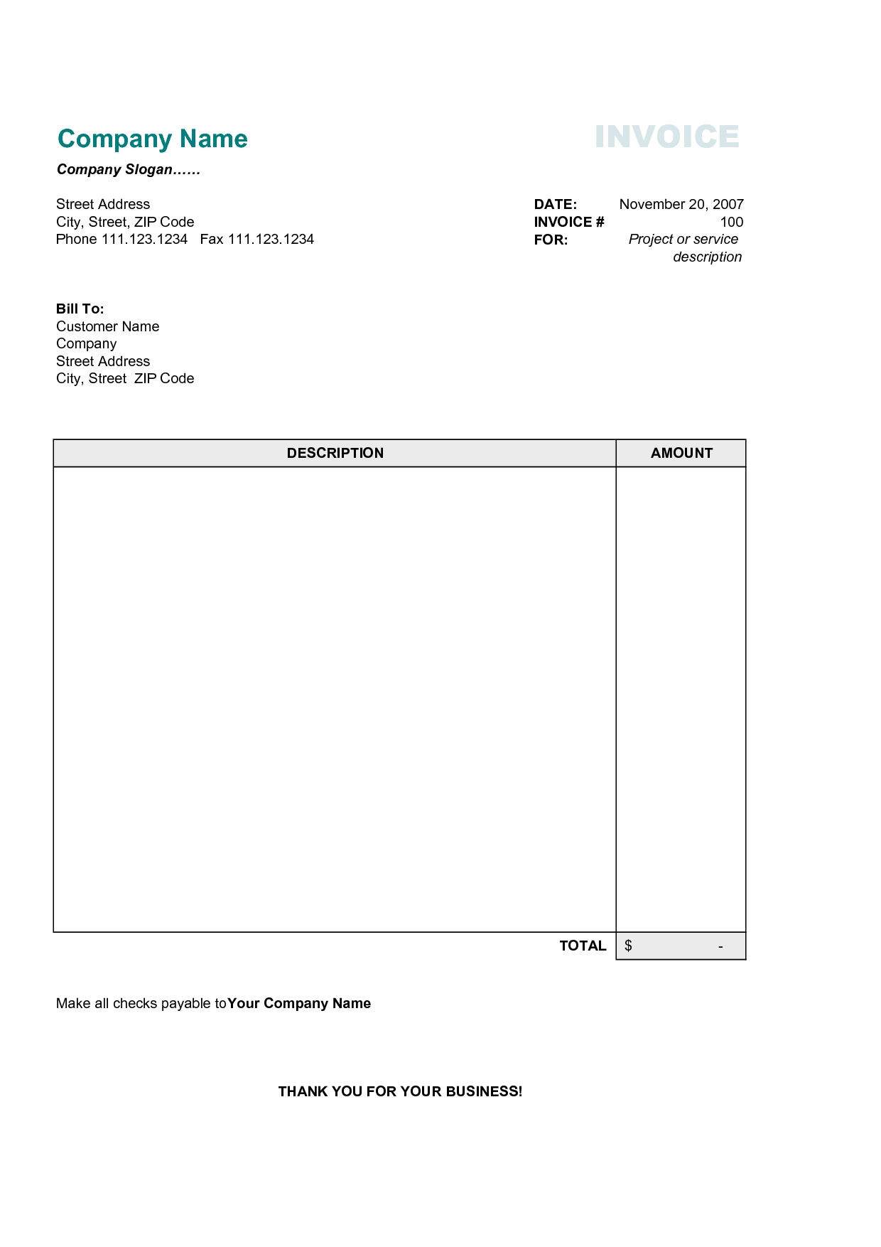 5+ free simple invoice template | 3canc