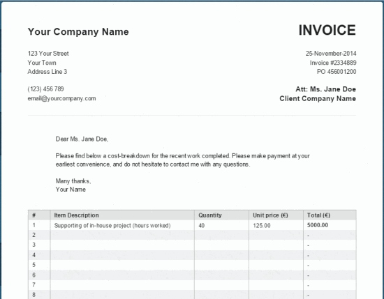 Simple Invoice Maker Simple Invoice Generator Invoice Maker Simple