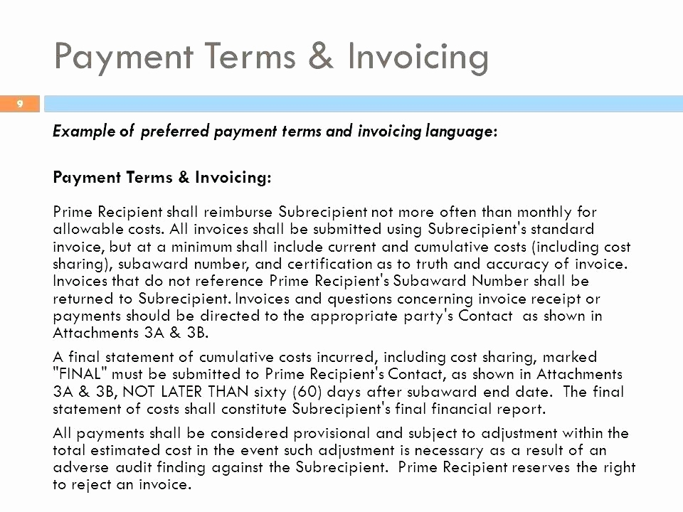 50 Unique Invoice Payment Terms And Conditions Example Graphics