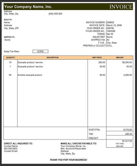 Subcontractor Invoice Template Excel – hardhost.info