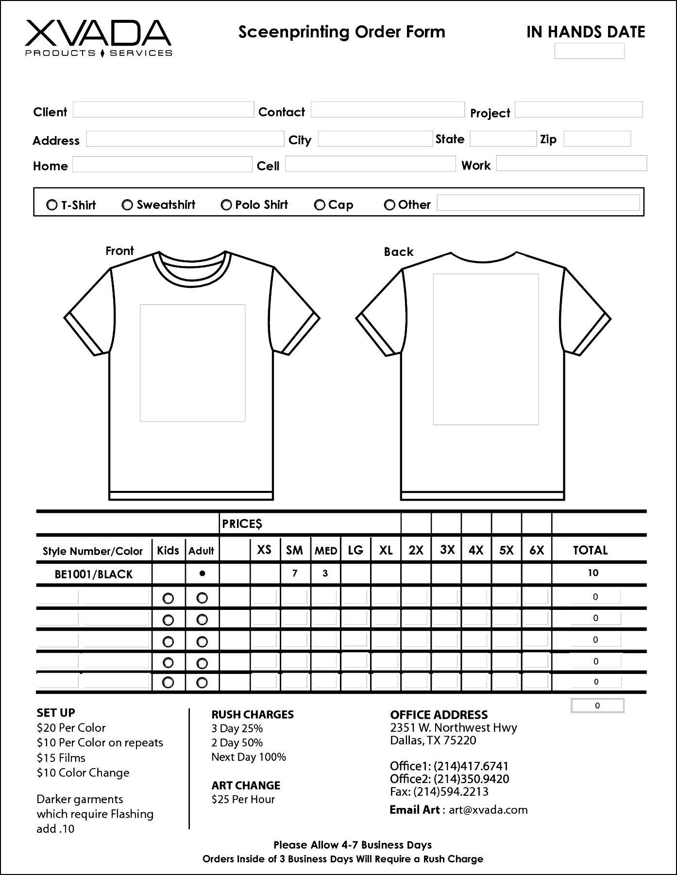 T Shirt Invoice Template | dascoop.info
