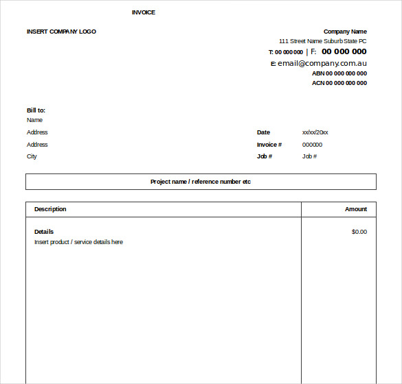 template for invoice free download excel invoice free download template