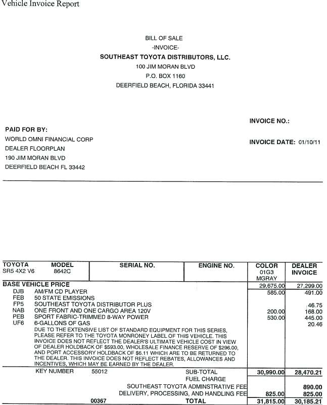 Toyota Corolla Invoice Price Dealer Invoice Prices Attached Dealer
