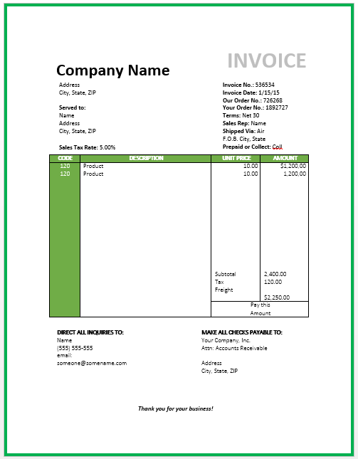 Travel Invoice Template Free Invoice Templates Travel Agency