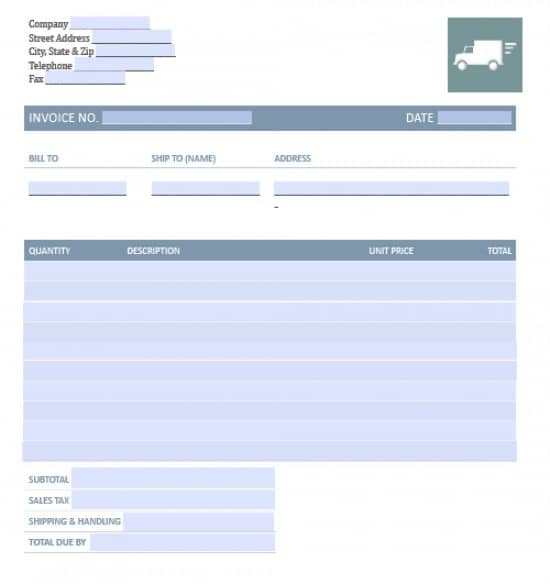 trucking invoice template free Black.dgfitness.co