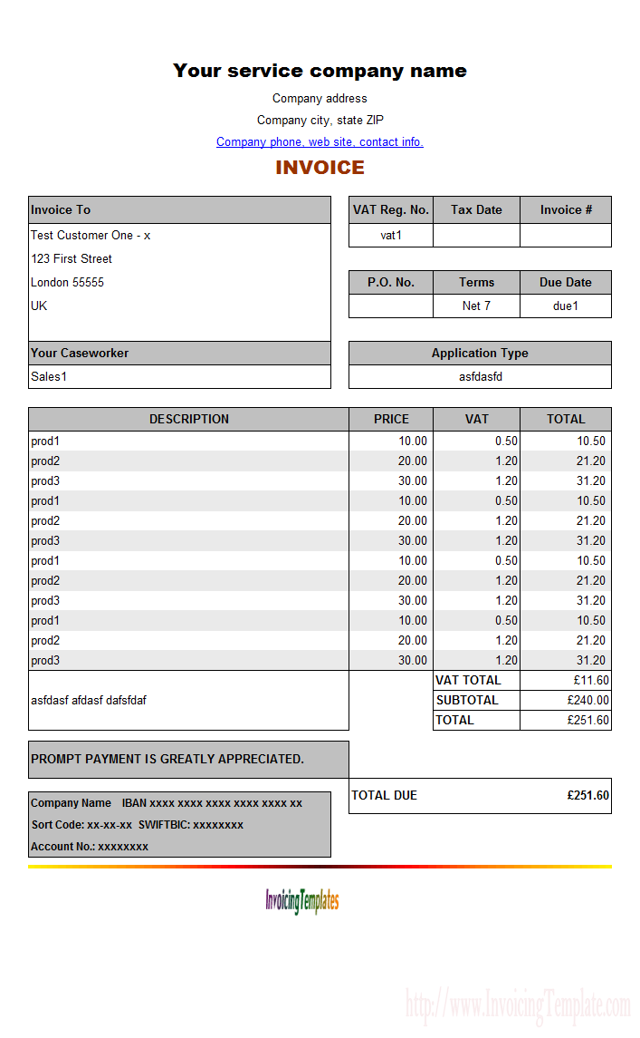uk vat invoice template Ecza.solinf.co