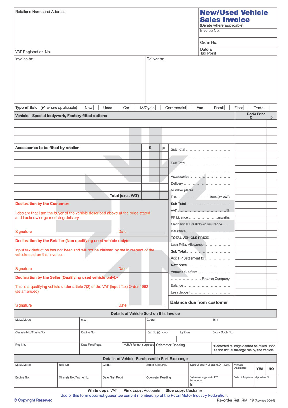Car Sales Invoice Template Free | invoice | Pinterest | Car sales