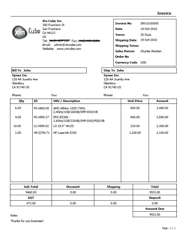 Video Invoice Video Invoice Invoice Invoice Template For Video