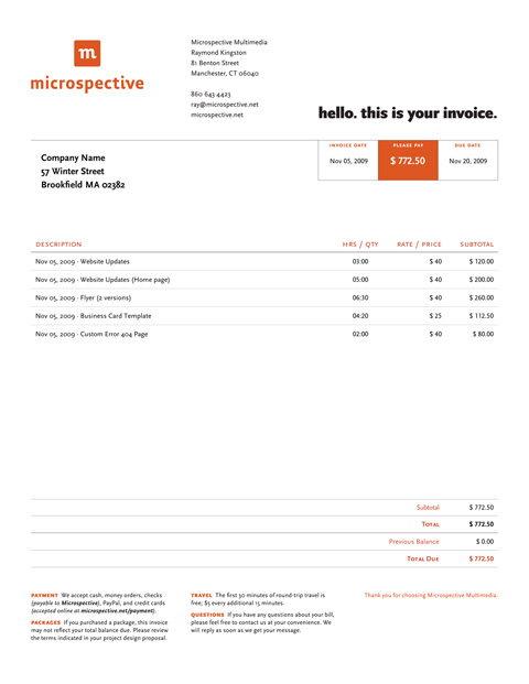Invoice Like A Pro: Design Examples and Best Practices — Smashing