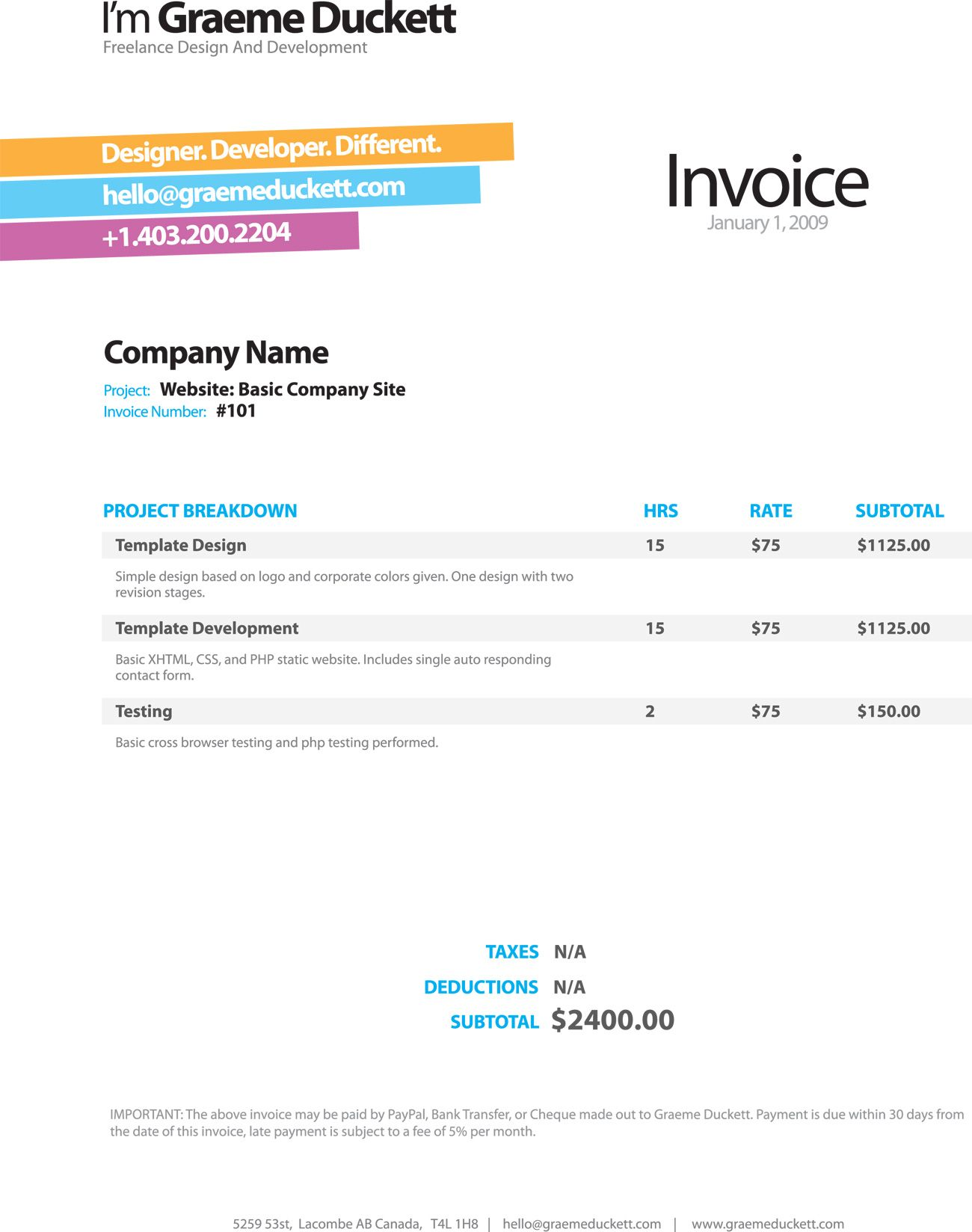 Invoice Like A Pro: Design Examples and Best Practices | Pinterest