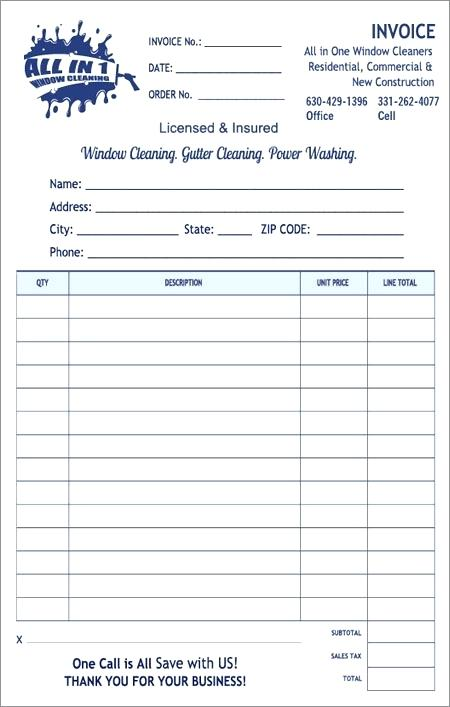 trushine window cleaning invoice – Houston Printing