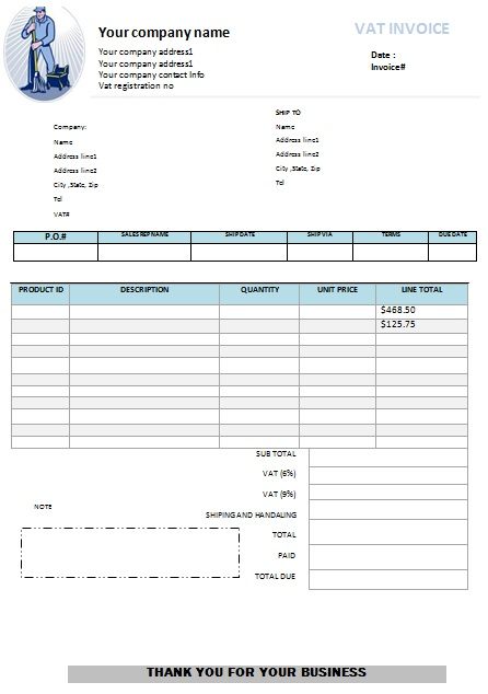 window cleaning invoice