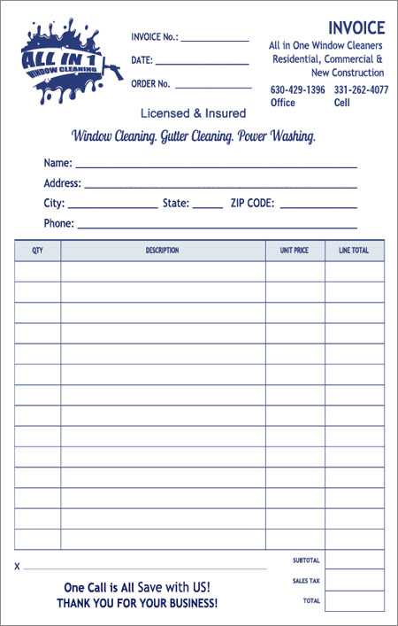 Free Window Cleaning Invoice Template
