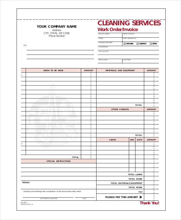 window cleaning invoice window cleaning invoice template cleaning invoice template 6 free word pdf documents download