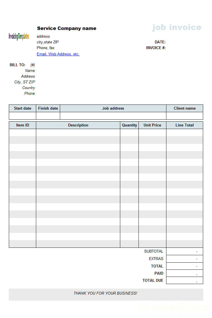 Free Work Invoice Template from apcc2017.com